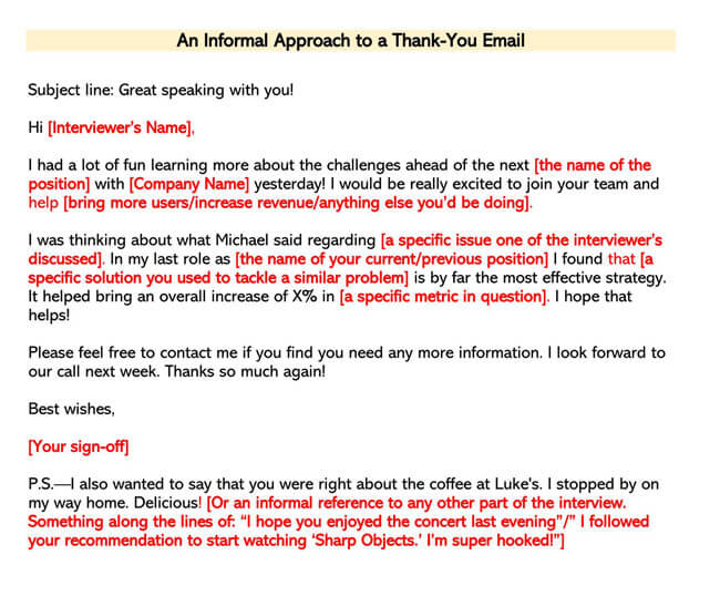 An Informal Approach to a Thank