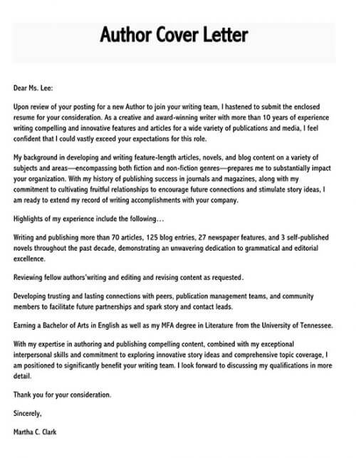 cover letter for manuscript submission example
