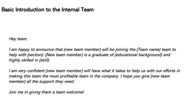 Basic Introduction to the Internal Team
