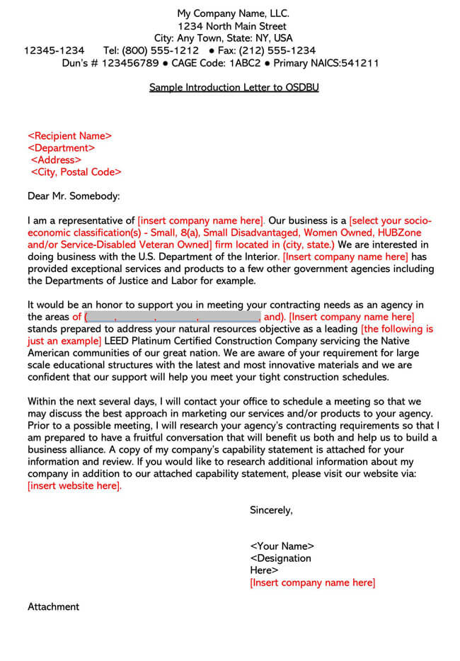 Business Introduction Letter Template 03