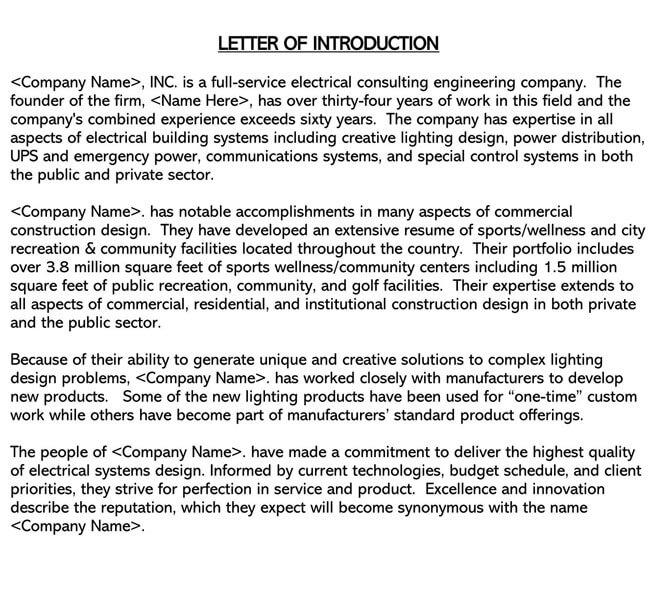Business Introduction Letter Template 09