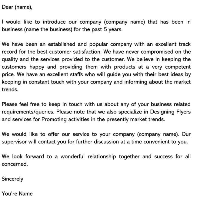 Business Introduction Letter Template 17