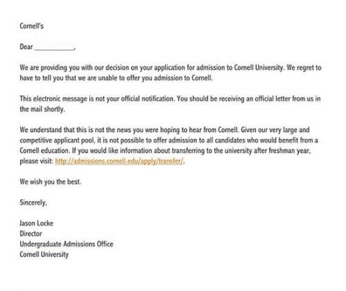 college rejection depression