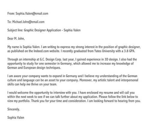cover letter for university application