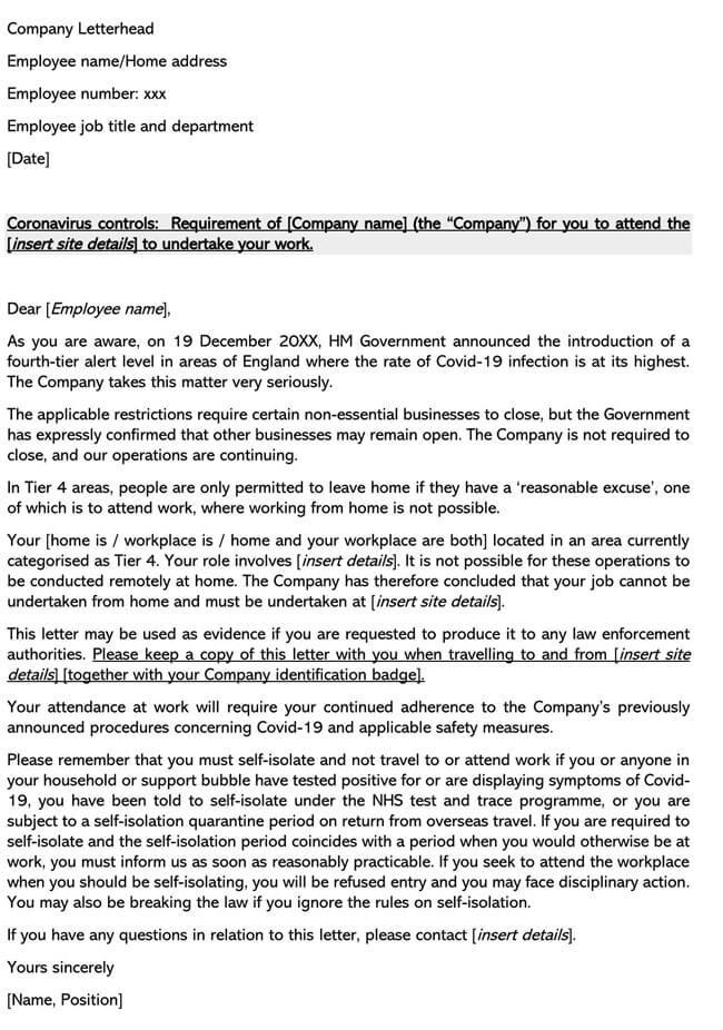 Coronavirus Furlough Letter Template 01