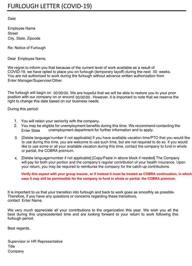 Coronavirus Furlough Letter Template 02