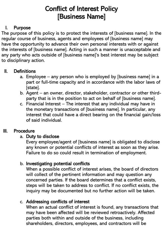 Employee Conflict of Interest Policy 02