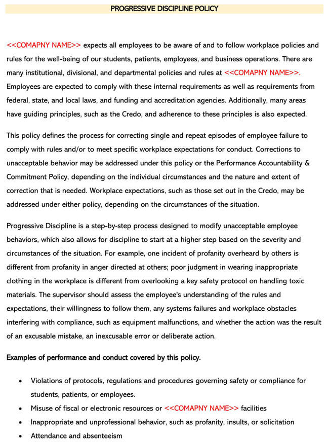 Employee Disciplinary Policy 04