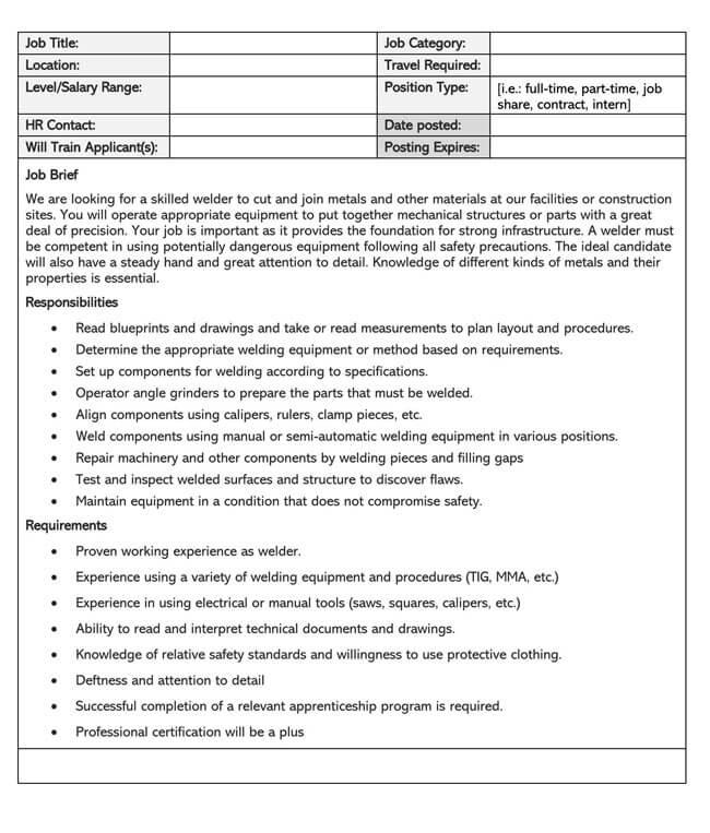 Job Description Template 09