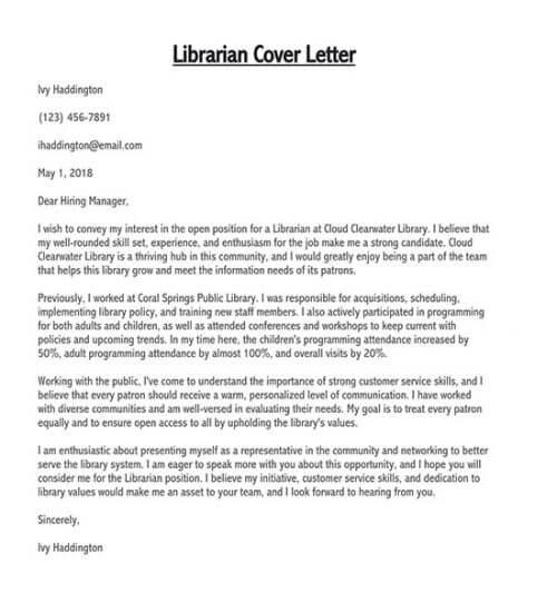 stem librarian cover letter