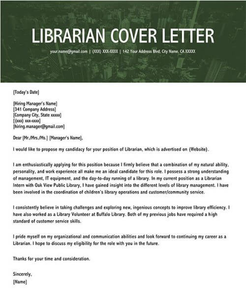 write a cv for the post of a librarian
