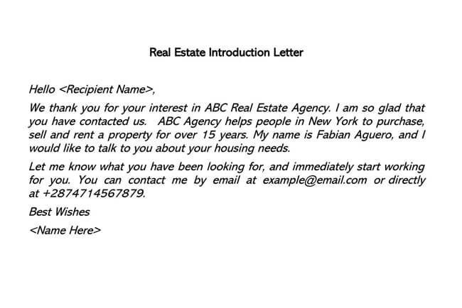Real Estate Introduction Letter 02