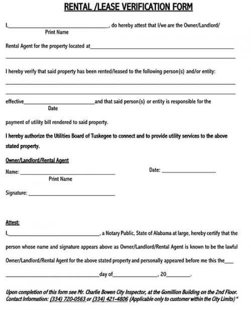 rental verification form texas 01
