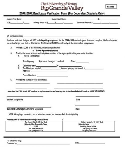 rental verification form texas 03