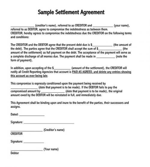 """debt payment agreement"""