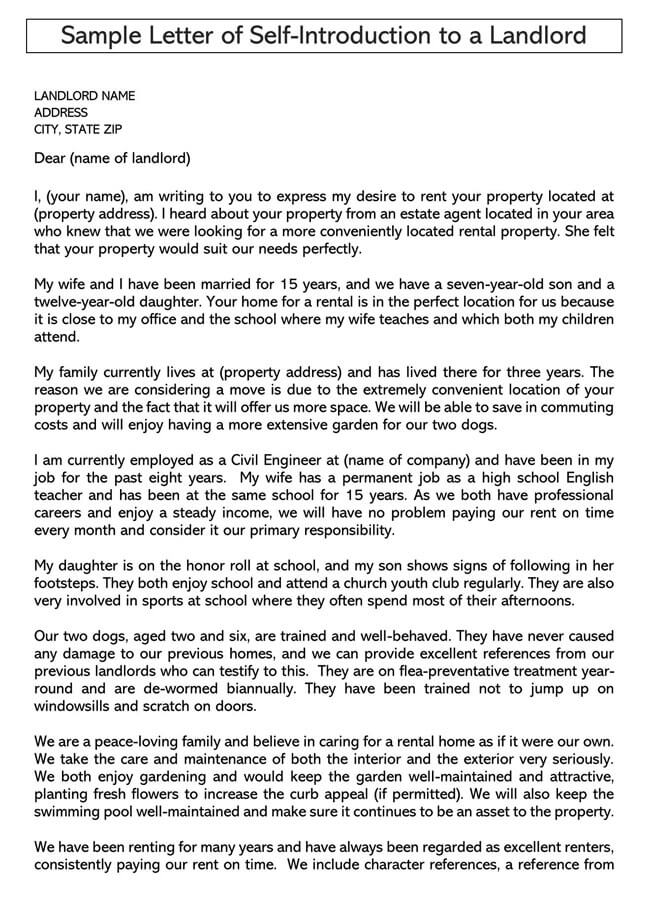 Tenant Introduction Letter
