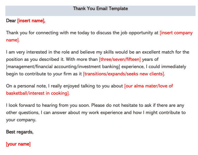 Thank You Email Template 02