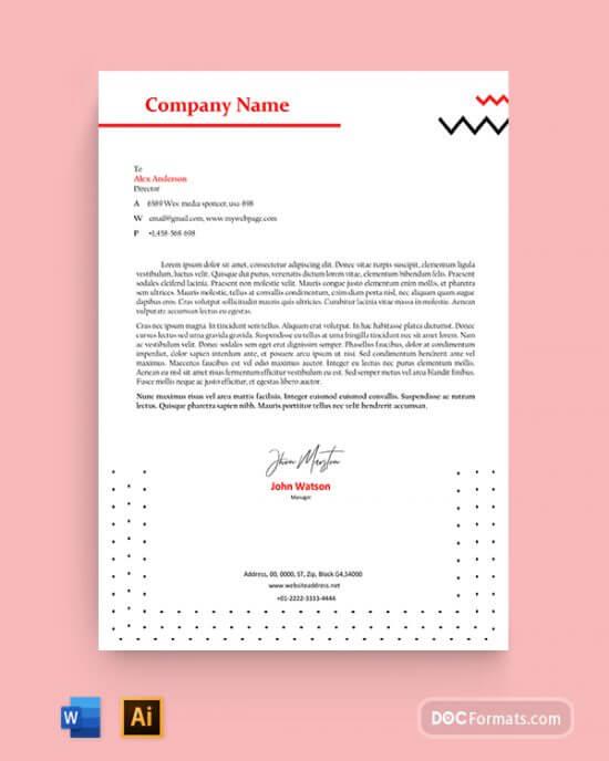 black-new-letterhead-template-word