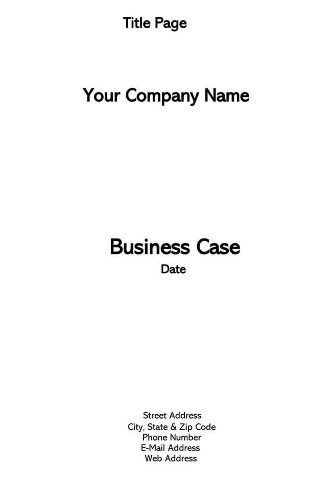 Business Case Template 12