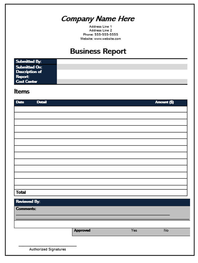 Business Report Template 01