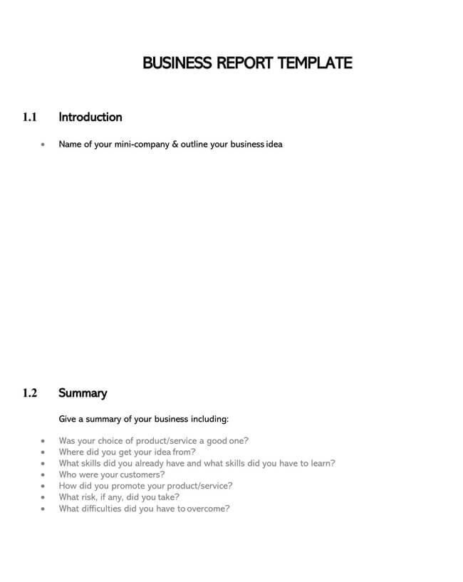 Business Report Template 02