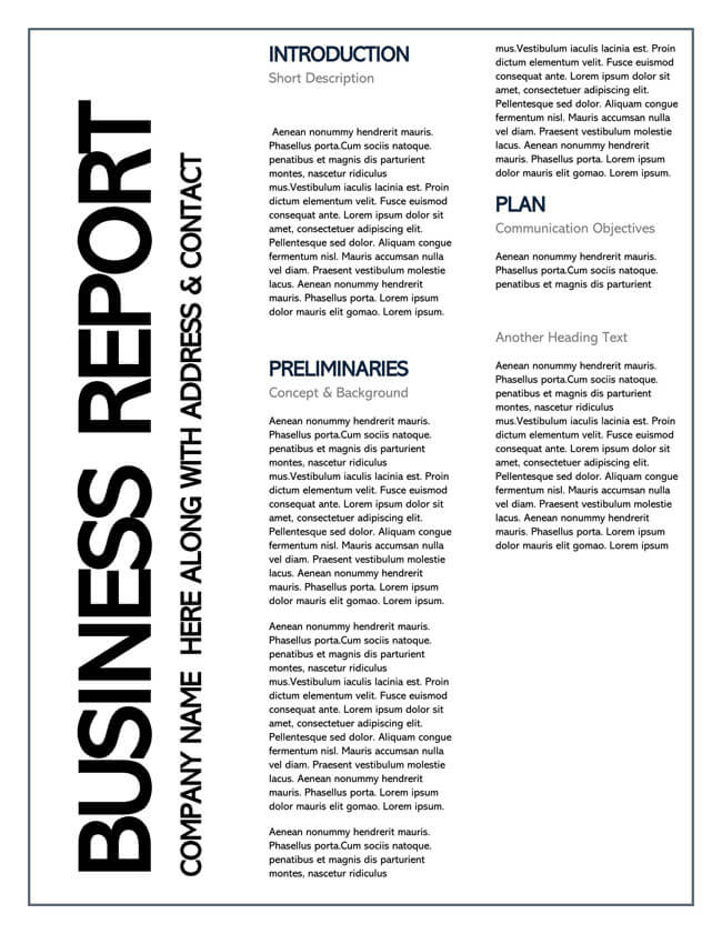 Business Report Template 04