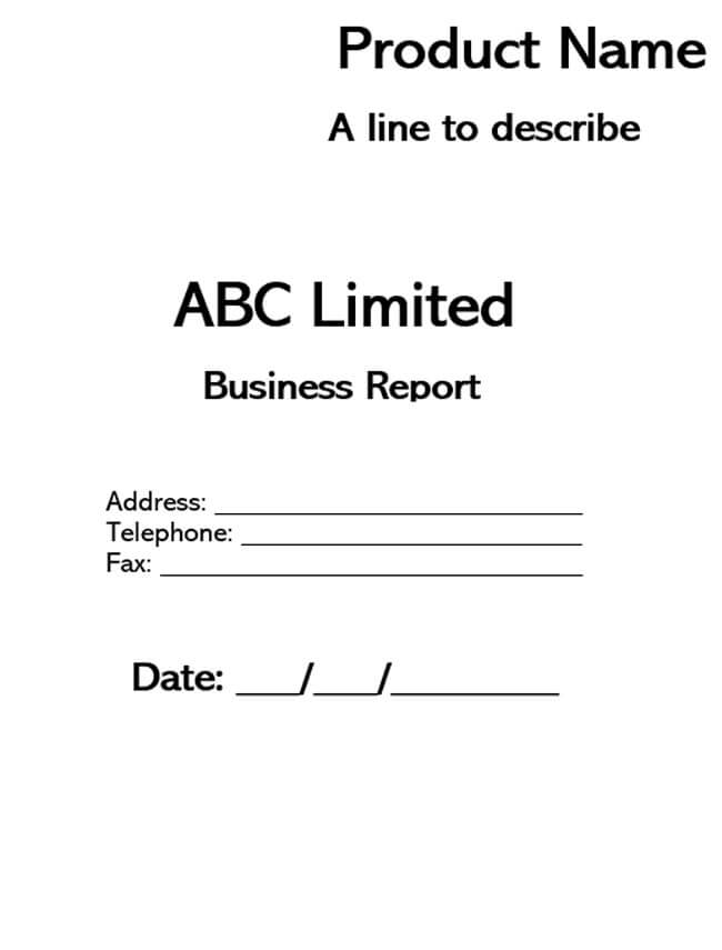 Business Report Template 12