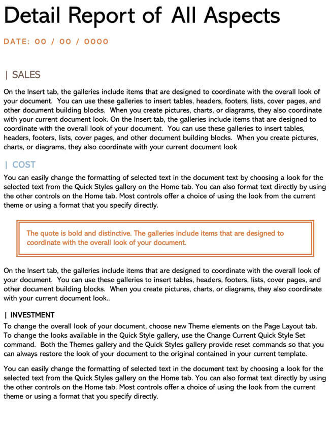 Business Report Template 16