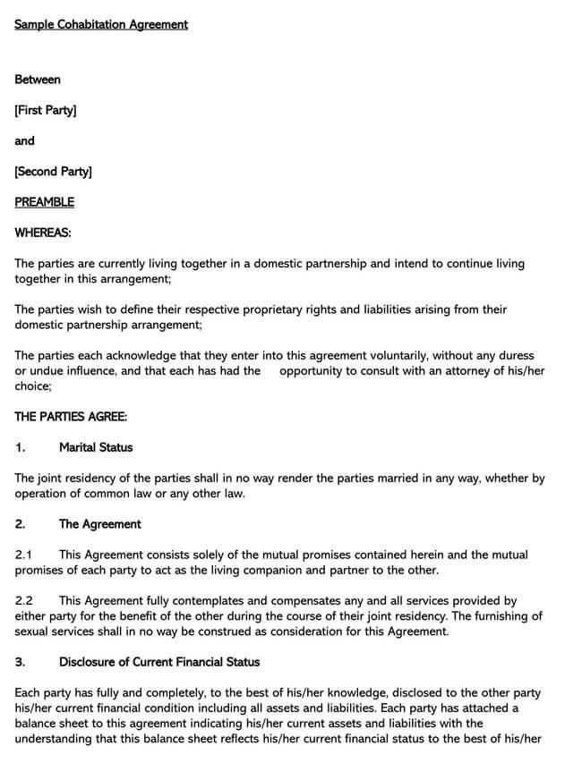Cohabitation Agreement Template 13