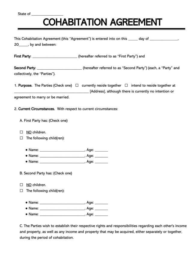 Cohabitation Agreement Template 20