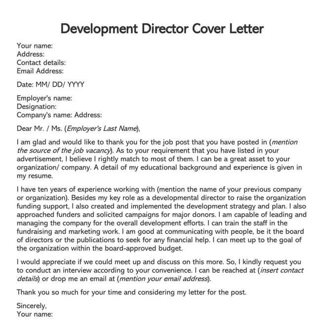Development Director Cover Letter 01