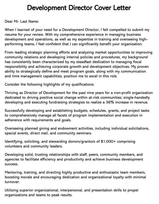 Development Director Cover Letter 03
