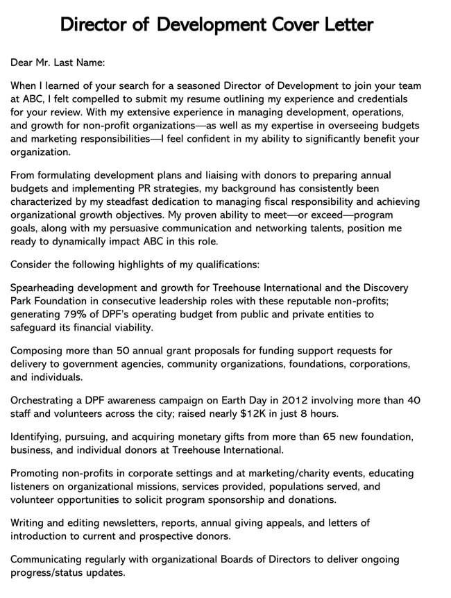 Development Director Cover Letter 04