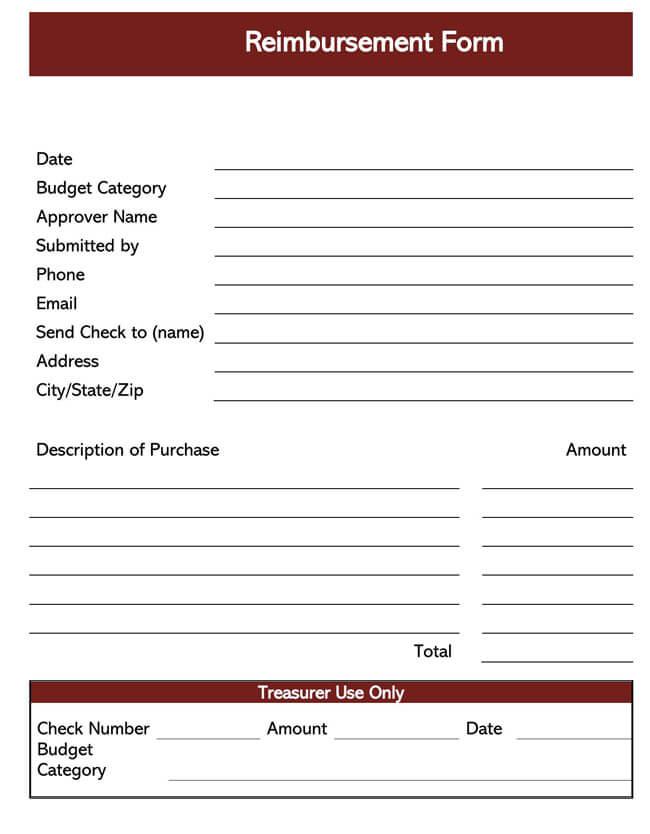 Employee Reimbursement Form Template 03