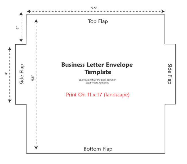 Envelope Template 22