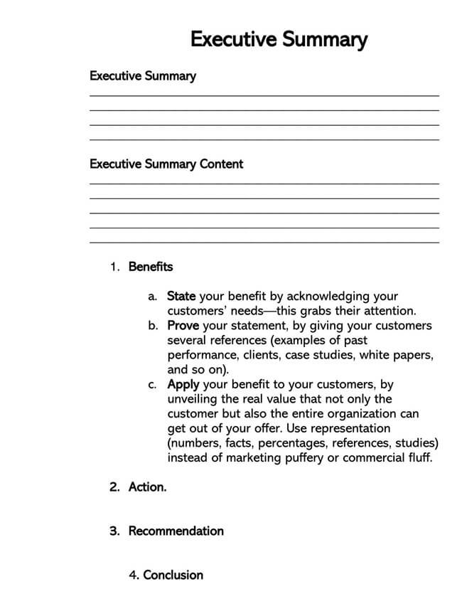 Executive Summary Template 16