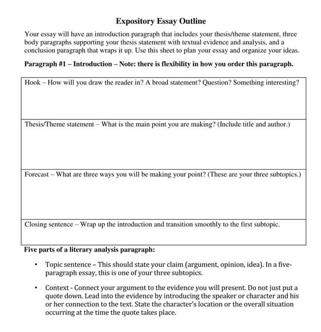 Expository Essay Outline 02
