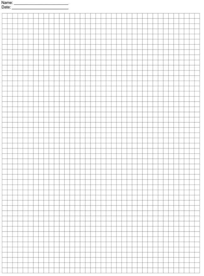 Graph Paper Template 20