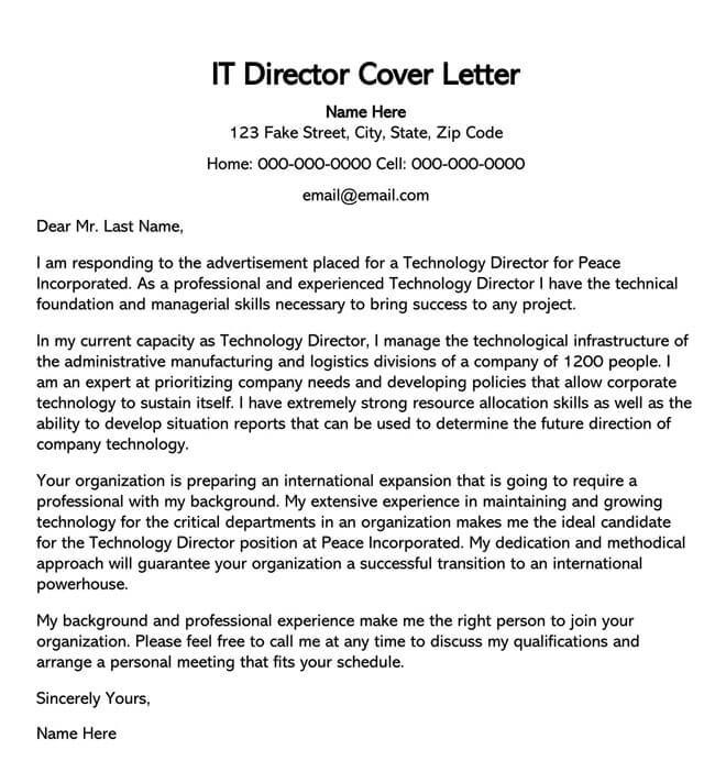 IT Director Cover Letter 04