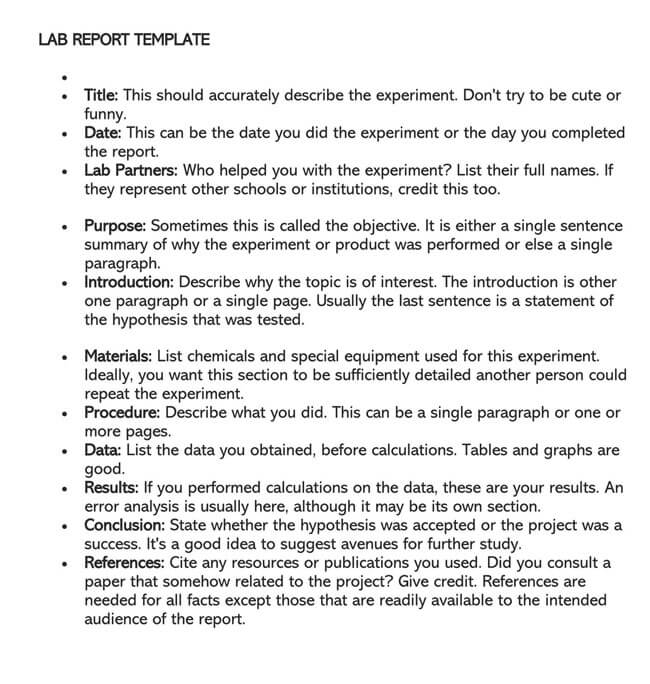 Lab Report Template 19