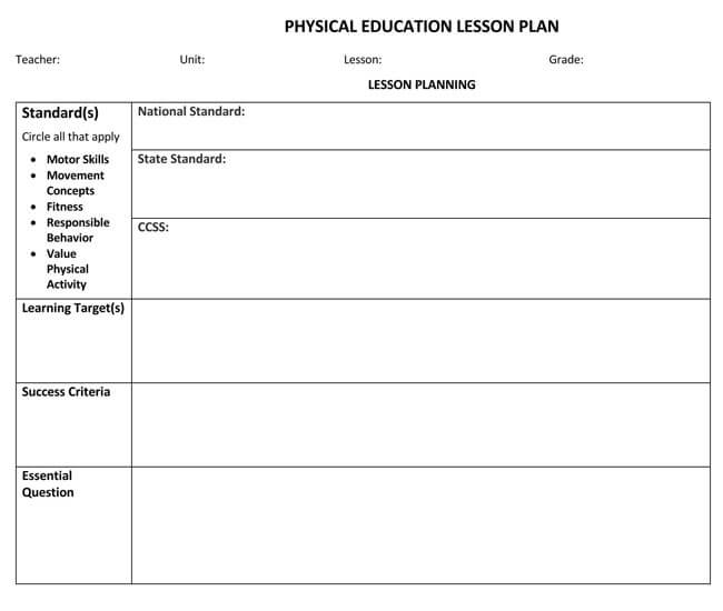 Lesson Plan Template 17
