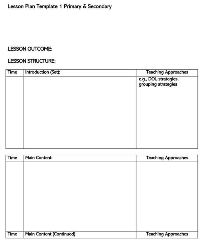 Lesson Plan Template 26