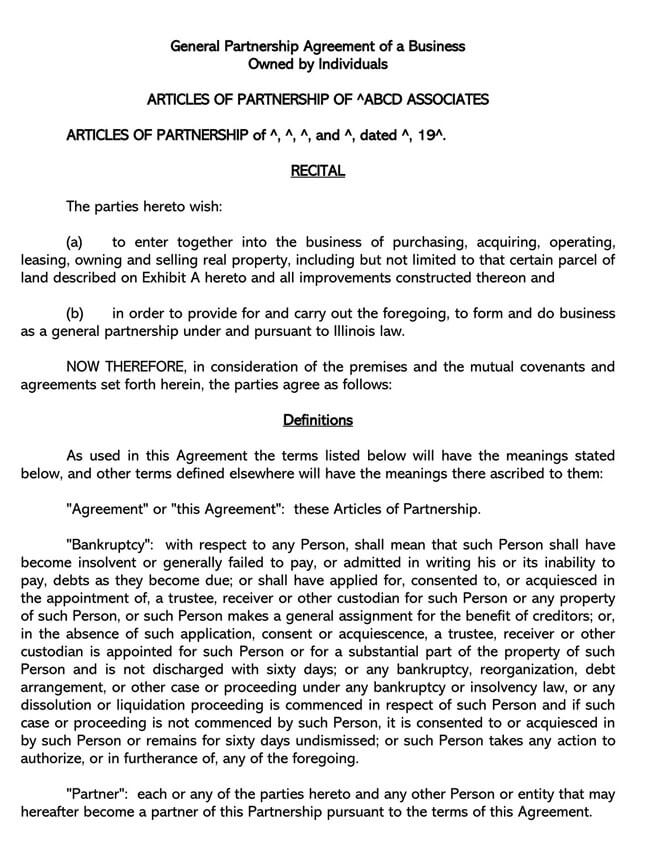 Partnership Agreement Template 04