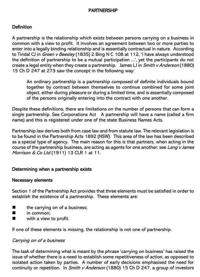 Partnership Agreement Template 07