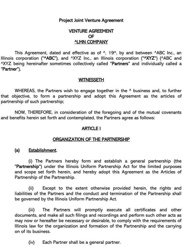 Partnership Agreement Template 11