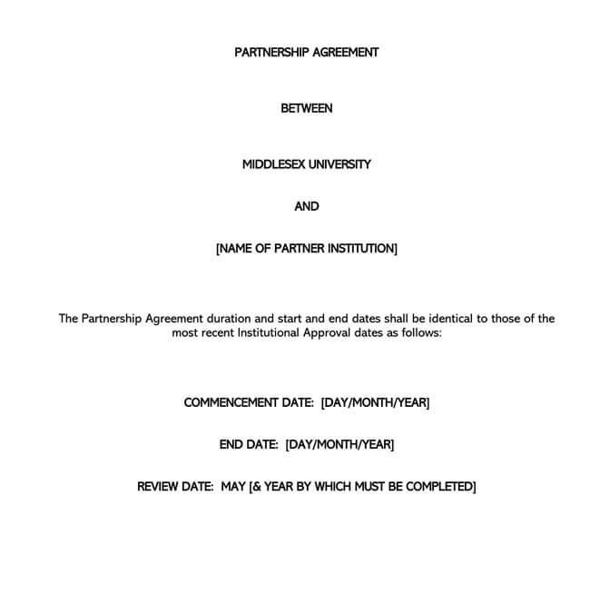 Partnership Agreement Template 12