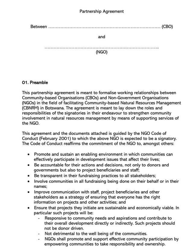 Partnership Agreement Template 13
