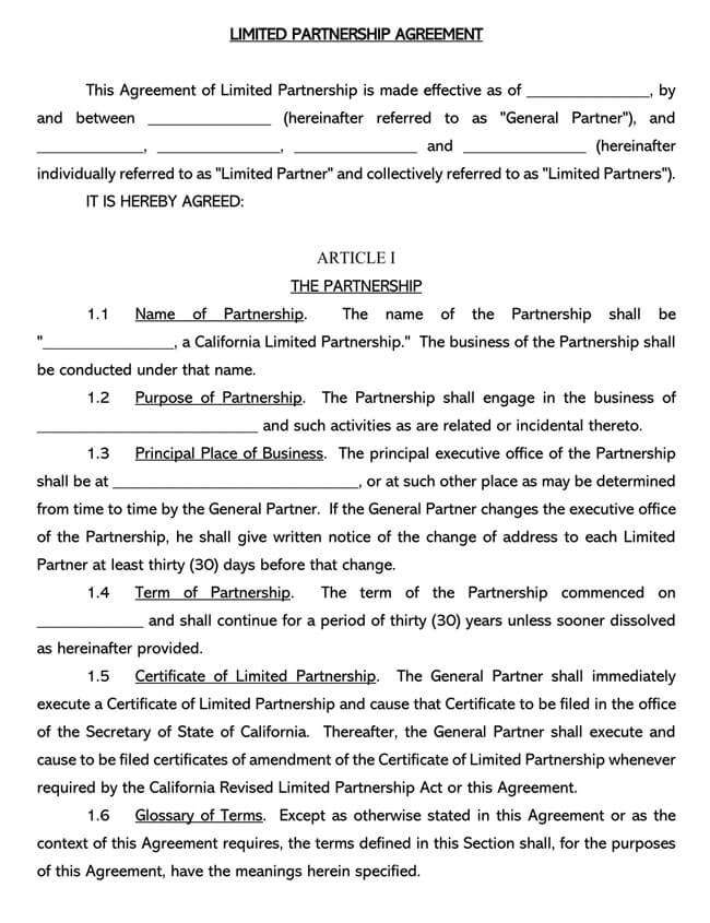 Partnership Agreement Template 16