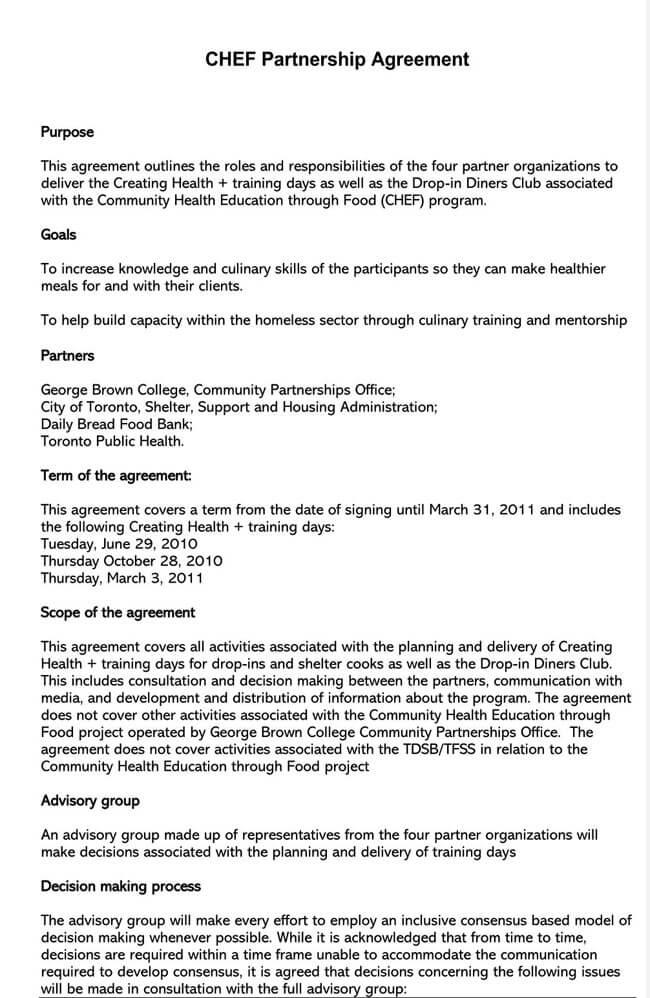 Partnership Agreement Template 18