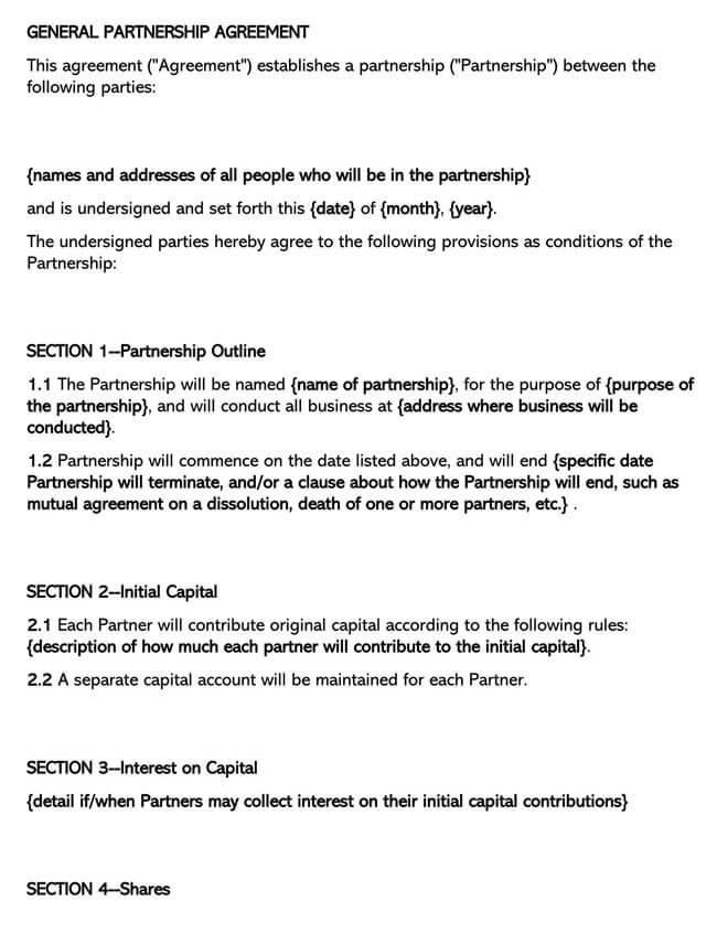 Partnership Agreement Template 19